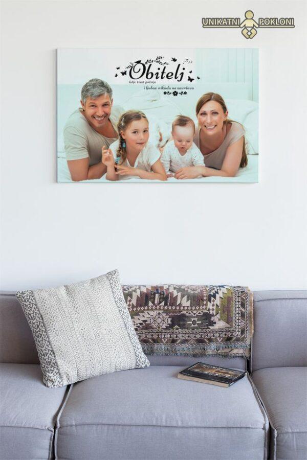 slika na platnu obiteljska