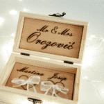 kutija za prstenje za vjenčanje