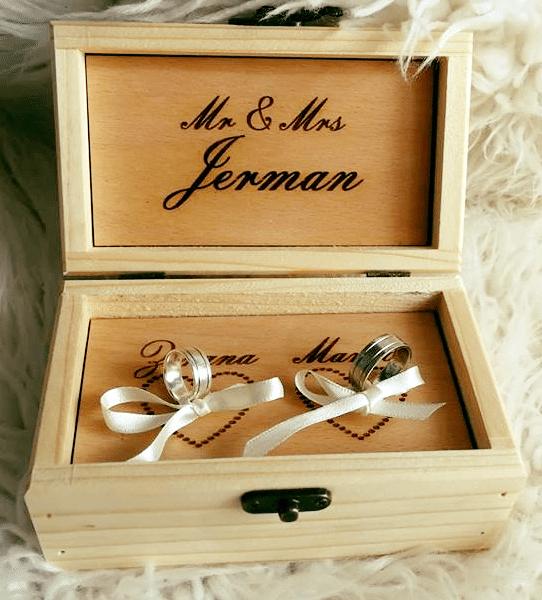nova kutija za prstenje za vjenčanje