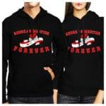couple matching hoodies