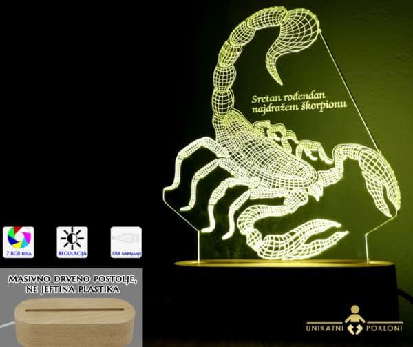 škorpion bijeli