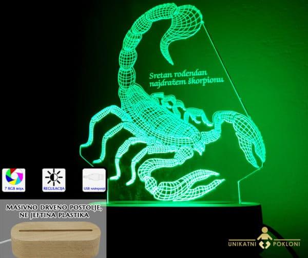 škorpion zeleni