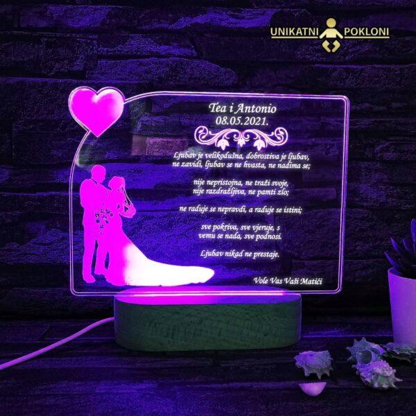 LED lampa za vjenčanje